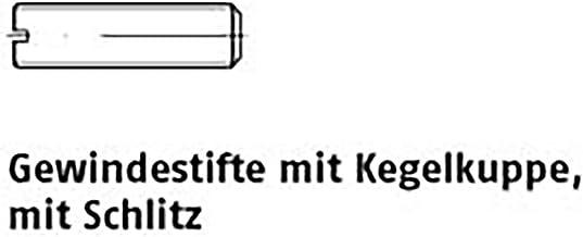 Gew.pennen met gleuf ISO 4766 14 H M 12 x 30 VE = S 100 stuks