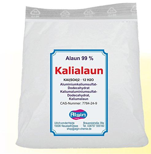 Algin-Chemie Kali alumbre alumbre 2,5kg Clip Bolsa de Aluminio Sulfato de Potasio dodeca hydrat Natural