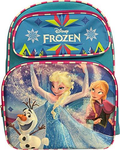 Group Ruz Frozen Elsa & Anna Girl's 3D 16' Large School Bag Backpack