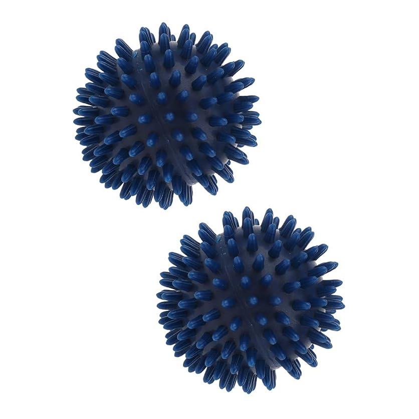 財布ご近所散歩Fenteer 2個 マッサージボール スパイキック トリガーポイント 5色選べ - 濃紺