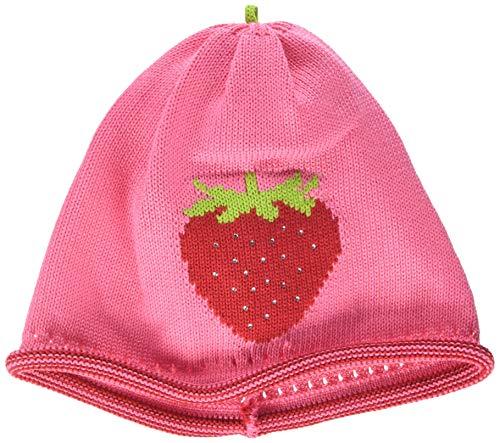 maximo Mädchen Strickmütze, Erdbeere, Strasssteine Mütze, Mehrfarbig (Pink Rose 64), 51