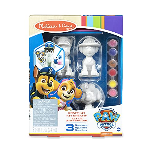 Melissa & Doug PAW Patrol Craft Kit - 3 Decorate Your Own Pup Figurines