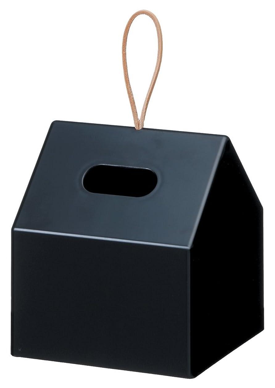 規模歌詞拒否ライクイット(Like-it) ティッシュケース?ホルダー ブラック 約W14.5×D14×H16.5cm