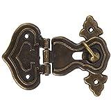 10 piezas cajas de cerrojo de cerrojo, estilo antiguo hebilla de bronce cerradura de aleación cerradura de elevación joyería caja de madera cerradura de cerrojo con tornillos cerradura de cerradura de