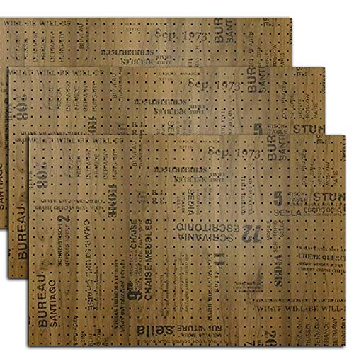 有孔ボード 木目調ブルックリンアルダー 1/3サイズ(4ミリ厚x横900ミリx縦600ミリ) UKB-600900-2422-53-3S ...