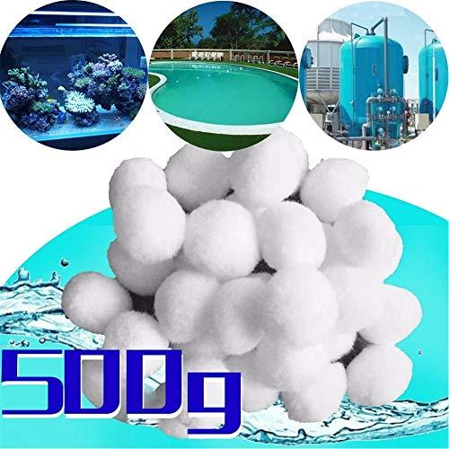 HYXLN Billes de Filtre Lavable Réutilisable Filtration des médias Nettoyage Alternatif Piscine Fish Tank Pollution Sable Cultivateur Mangeoires Automatique