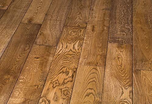HORI® Massivholzdiele Eiche rustik antik Landhausdiele 1-Stab mit Fase geölt 20 x 140 mm I für 44,90 €/m²