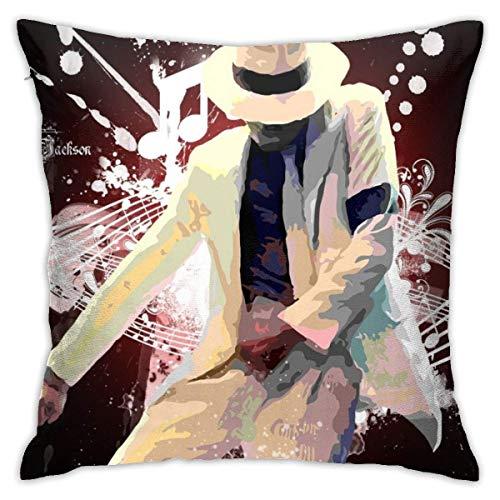 LUCKY Home Michael Jackson - Fundas de almohada decorativas de algodón para sala de estar, sofá, cama, fundas de almohada de 45 x 45 cm