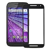 JIANGHONGYANYA Accesorios para Celular Lente de Vidrio Exterior de Pantalla Frontal for Motorola Moto G (3ra generación)