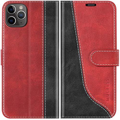 Mulbess Funda para iPhone 11 Pro MAX, Funda con Tapa iPhone 11 Pro MAX, Funda iPhone 11 Pro MAX Libro, Funda Cartera para iPhone 11 Pro MAX Carcasa, Vino Rojo