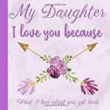 My Daughter I Love You Because What I love About You Gift Book: Prompted Fill-in the Blank Personalized Journal | 25 Reasons Why I Love You | ... Present Idea (I Wrote a Book About You)