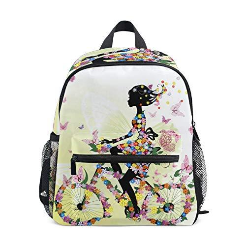 Cpyang, zaino per bambini con fiori e farfalle, zaino per la scuola materna per bambini e bambine