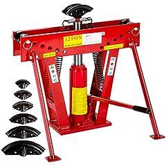 TecTake Pipe Bending Machine Pipe Bending Machine Pipe Bending Machine Hydraulic 12 Tone. incl. 6 drukstukken 43 kg*