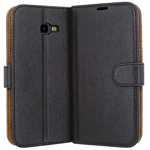 """Case Collection Custodia per Samsung Galaxy J4 Plus Cover (6,0"""") a Libretto in Pelle di qualità Superiore con Slot per Carte di Credito per Samsung Galaxy J4 Plus Custodia"""