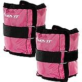 Movit 2er Set Gewichtsmanschetten für Hand- und Fußgelenke 2X 1,0kg Laufgewichte pink