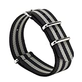Gemony Nato Strap Premium Ballistic Nylon Watch Band, Larghezza di banda 18mm 20mm 22mm,WB-40G