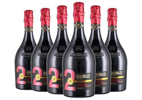 Lambrusco Grasparossa di Castelvetro DOC - Giacobazzi - Amabile 2 Fruttato - 6 x 0,75 l