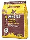 Josera Alimento Seco para Perros : Comida para Perros Pienso Alimento Seco Saludable Galletas Proteína Saco Perro Cordero y Arroz 900 g