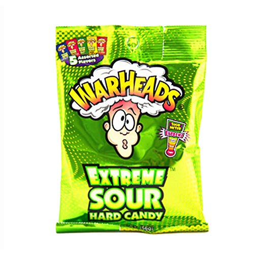 Warheads Extreme Sour Hard Candy Assorted Flavors 2 Oz. (Pack of 3) from Warheads