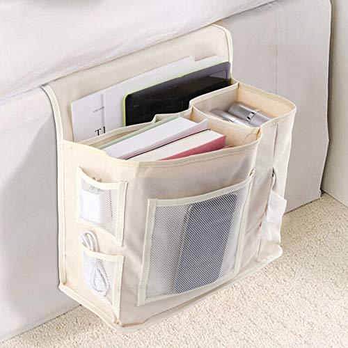 Kreatives Design Schreibtischbett Sofa Seitliche Aufbewahrungstasche Handy Debris Finishing Bag Beige