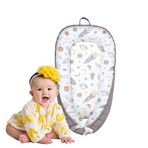 Cama Nido de Bebé,Reductor de Cuna Nidos para Bebe,Algodón Nido Bebé Recién Nacido Suave y Transpirable,90 * 50cm (Universo)
