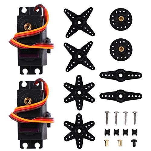 ULTECHNOVO 2 Sätze RC Digital Servo 20 Kg Motor mit Hohem Drehmoment Servo Vollmetallgetriebe Digital Servomotor für RC Auto Roboter (90-180 Grad)