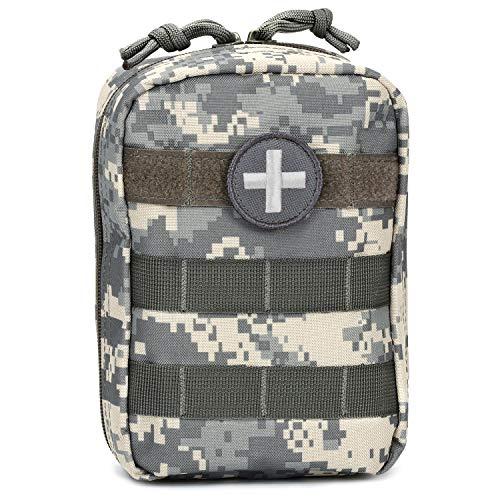Orca Tactical MOLLE EMT Medizinische Erste-Hilfe-Tasche IFAK (nur Tasche) (Armee Kampfuniform) Grau