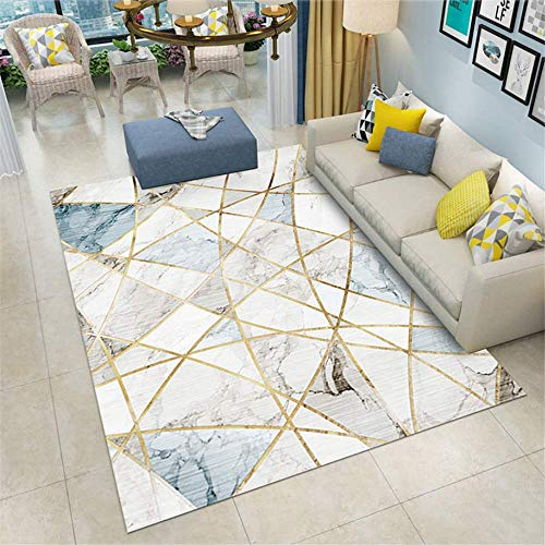 XTUK Home Decoration Non Slip Carpet Geometric Modern Traditional Living Room Rug Indoor Outdoor Garden Rug Living Room Patio Kitchen Bed Rugs Parlor Decor Area Rug Play Mat 160 * 230cm