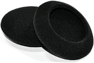 Synsen 5 Pairs 50mm (2 inch) Quality Replacement Foam EarPad cushions for Sennheiser PX100,PMX100,PMX60,PX20,MAB 25, HD15,HD35,HD36,HD56/ Sony MDR-G57 / Philips/ Plantronics Headphones (Black)