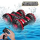 Joyfun Toy Cars for 6-12 Year Old Boys Girls Amphibious RC Car 2.4 GHz Remote Control Boat Waterproof RC Monster Truck Stunt Car 4WD RC Vehicle All Terrain Water Beach Pool Christmas Birthday Gifts