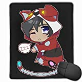 KEEHUA Chibi Voltron Non-Slip Rubber Mousepad Gaming Mouse Pad with Stitched Edge 10x12 in