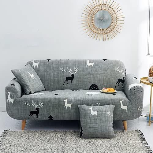 DANNEIL Fundas Sofa elasticas, Universal, para Protector de sofá de Sala de Estar, Aplicable a la Fundas para Sofa Chaise Longue, Tejido de Microfibra Suave y cómodo (Color 14,3-Seater 180-225cm)