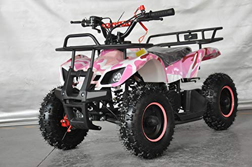 Mini quad infantil Humer camuflaje/mini quad para niños con motor de 49cc 2 tiempos (ROSA)