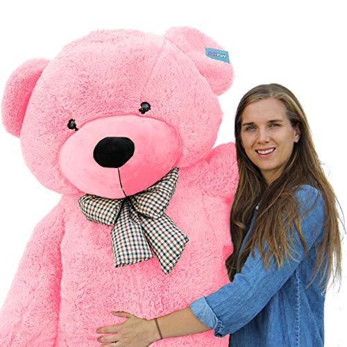 Joyfay Riesen Teddybären Plüsch bär Stofftier Teddybär Groß 200cm 230cm XXL XXXL (200cm, Pink)