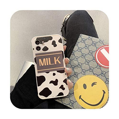 Funda de teléfono de cebra con estampado de leopardo para iPhone 12 11 Pro Max XR XS Max 7 8 Plus 12mini 11Pro mate patrón animal suave TPU cubierta T4-para iPhone 8 Plus