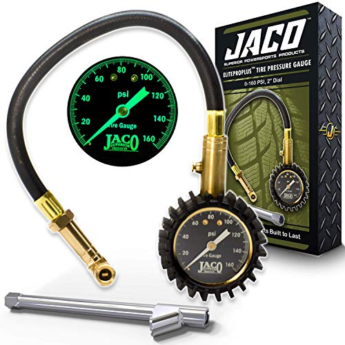 JACO EliteProPlus Tire Pressure Gauge with Dually Air Chuck - 160 PSI