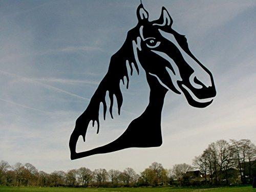 Metall-Design-Dithmarschen Pferdekopf aus Stahl 40-100cm, DIE Deko für Pferdefreunde, Pferdezüchter, Reitvereine und Alle Liebhaber des Pferdesportes (60cm)