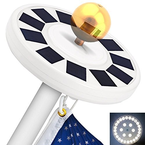 10 Best Solar Powered Flagpole Lights - Top Reviews 5