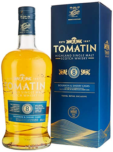 Tomatin 8 Years Old Bourbon & Sherry Casks Whisky (1 x 1 l)