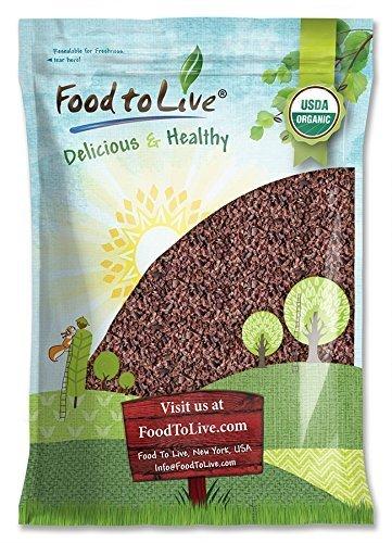 Organic Cacao Nibs, 8 Pounds - Unsweetened, Non-GMO, Kosher, Raw, Vegan, Sirtfood, Bulk