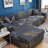 ASCV Funda de sofá para sofá de Todos los tamaños Funda de sofá elástica Universal para Sala de Estar Protector de Cubierta Decorativa A6 4 plazas