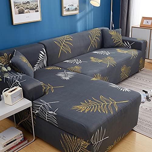 ASCV Funda de sofá para sofá de Todos los tamaños Funda de sofá elástica Universal para Sala de Estar Protector de Cubierta Decorativa A6 1 Plaza