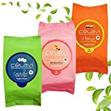 Celavi Makeup Removing Wipes 30 Count (3 Packs) (APRICOT/VITAMIN/CUCUMBER)