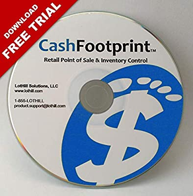 POS Software and Inventory Control, No Monthly Fees, Free Support & Updates - CashFootprint Retail Point of Sale Software by LotHill Solutions - Standard Edition