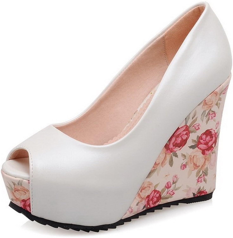 1TO9 Womens Outdoor High-Heels White Polyurethane Sandals - 7 B(M) US