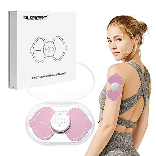 Elettrostimolatore Muscolare, OUZIGRT TENS Stimolatore Muscolare Wireless Massaggiatore Schiena e Cervicale, Attiva Circolazione Sanguigna e Rilassa Muscoli