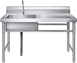 Kitchen Sink. Évier De Cuisine Évier À Légumes À Réservoir Unique avec Plateforme De Support Évier Utilitaire Mobile Intég...
