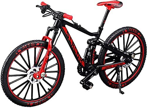 自転車模型 自転車 ミニチュア おもちゃ MTB マウンテンバイク ダイキャスト 1/10 ブラック/レッド