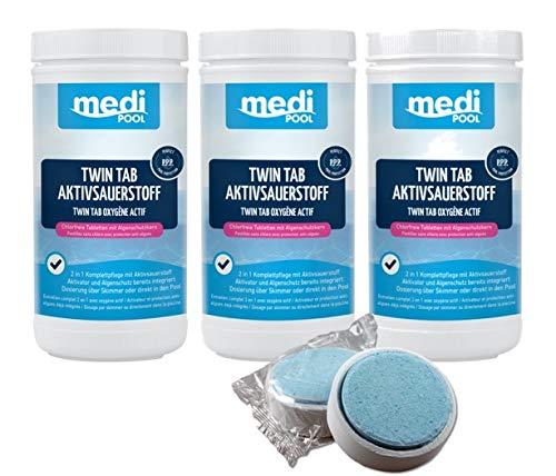 POWERHAUS24 Twin Tab Aktivsauerstoff, 3 x 1 kg, mediPOOL