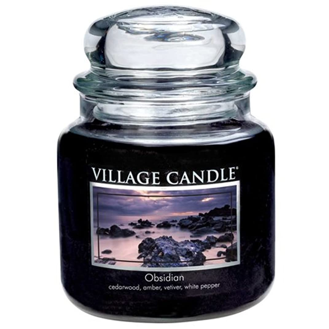 ナサニエル区追放洞察力(Medium (470ml)) - Village Candle Obsidian 470ml Glass Jar Scented Candle, Medium